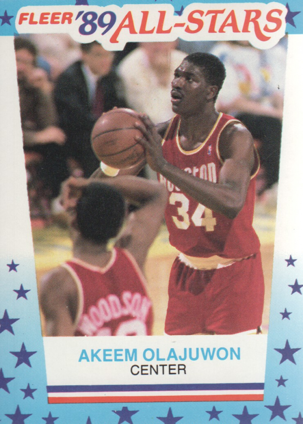 1989-90 Fleer Stickers #2 Hakeem Olajuwon