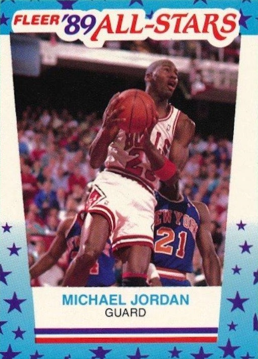 1989-90 Fleer Stickers #3 Michael Jordan front image