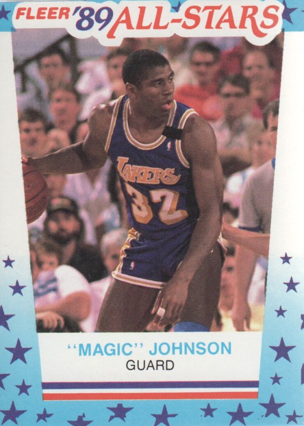 1989-90 Fleer Stickers #5 Magic Johnson