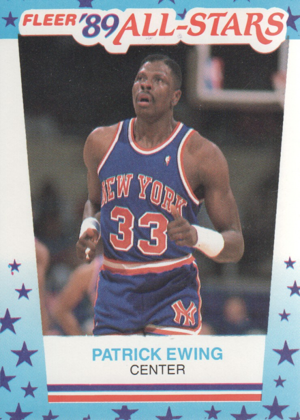 1989-90 Fleer Stickers #7 Patrick Ewing