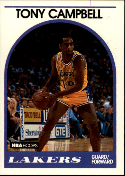 1989-90 Hoops #19 Tony Campbell RC