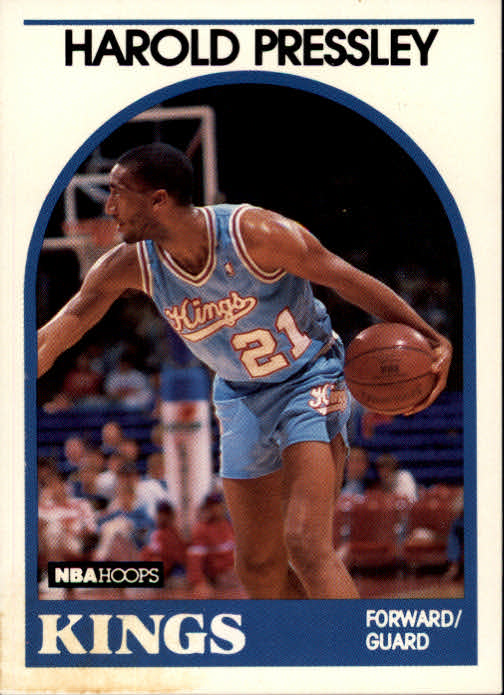 1989-90 Hoops #24 Harold Pressley UER/(Cinderella misspelled as cindarella)