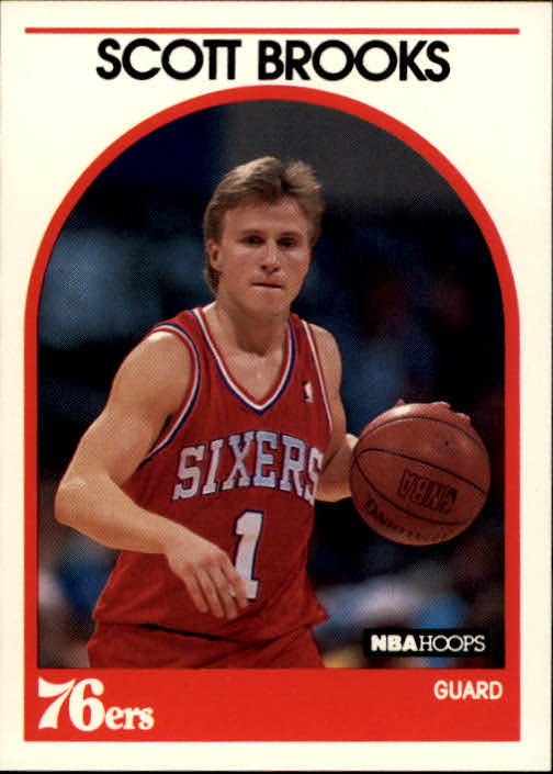 1989-90 Hoops #34 Scott Brooks RC