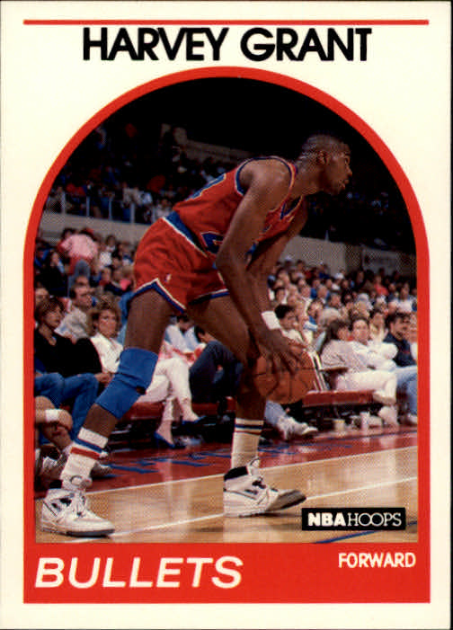 1989-90 Hoops #67 Harvey Grant RC