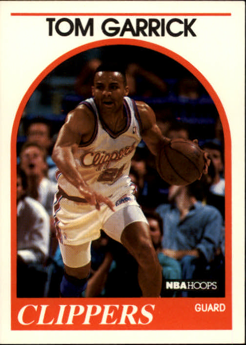 1989-90 Hoops #91 Tom Garrick RC