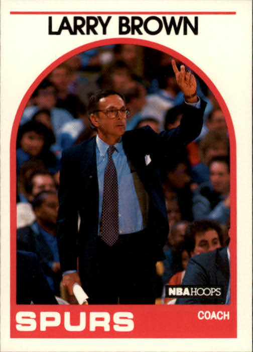 1989-90 Hoops #102 Larry Brown CO