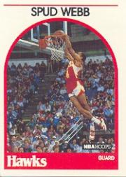 1989-90 Hoops #115B Spud Webb COR/(Second series; signed 9/26/85)