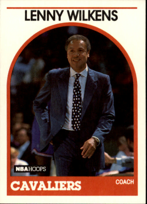 1989-90 Hoops #216 Lenny Wilkens CO UER/(No NBA logo on back in bottom right)