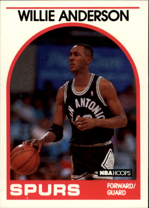 1989-90 Hoops #235 Willie Anderson RC