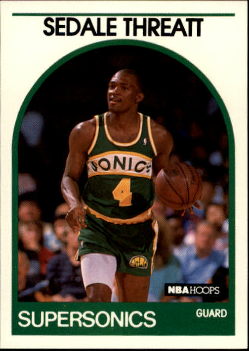 1989-90 Hoops #287 Sedale Threatt