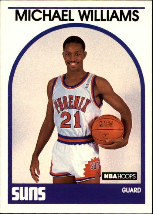1989-90 Hoops #344 Micheal Williams UER/(Misspelled Michael on card)