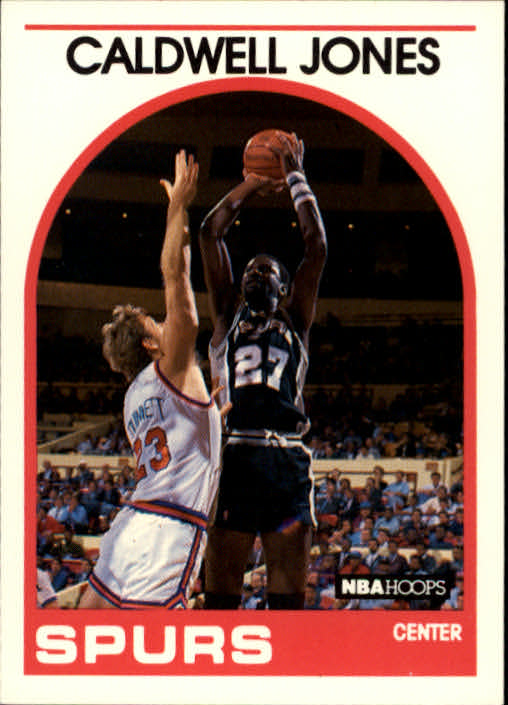 1989-90 Hoops #347 Caldwell Jones UER/(He was not starting center on '83 Sixers)