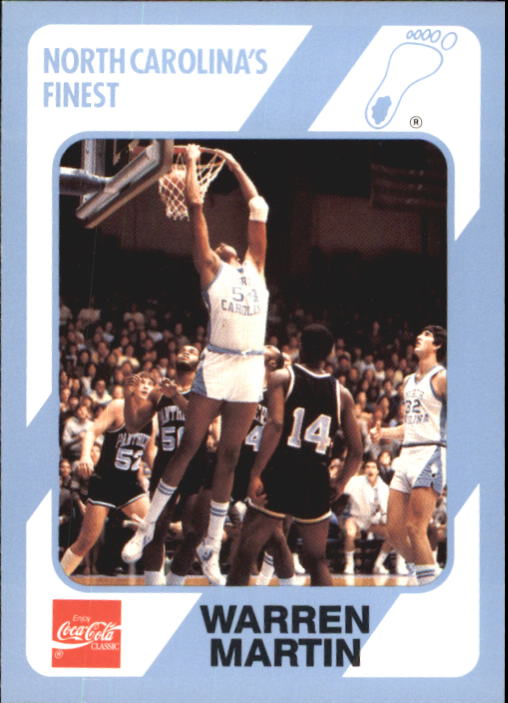1989-90 North Carolina Collegiate Collection #141 Warren Martin