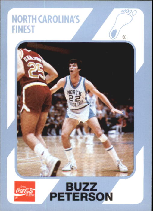 1989-90 North Carolina Collegiate Collection #180 Buzz Peterson