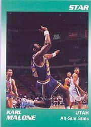 1990 Star Karl Malone #4 Karl Malone/All-Star Stats