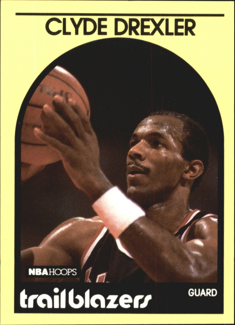 1990 Hoops 100 Superstars #80 Clyde Drexler