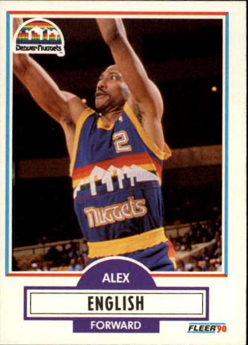 1990-91 Fleer #48 Alex English UER/(Stats missing from '76-77 through '79-80)