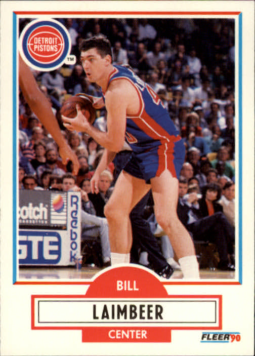 1990-91 Fleer #58 Bill Laimbeer