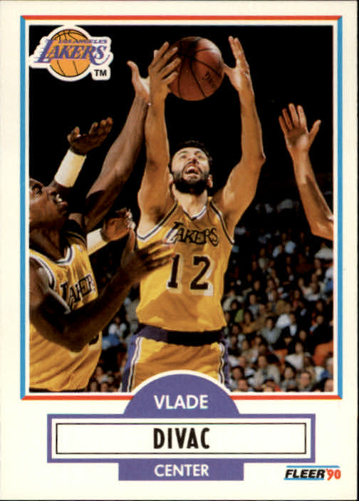1990-91 Fleer #91 Vlade Divac RC