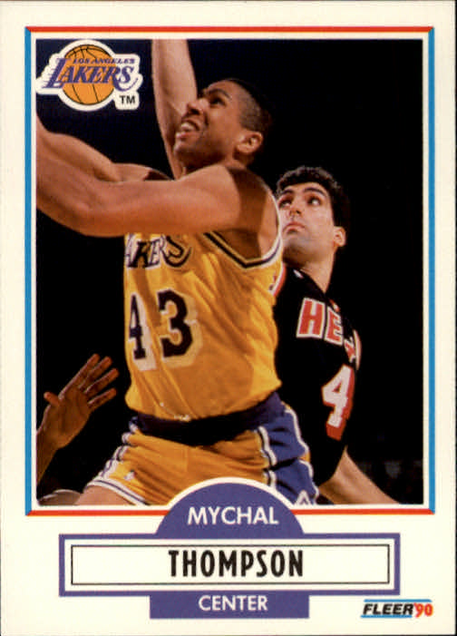 1990-91 Fleer #95 Mychal Thompson UER/(Missing '78-79 stats from Portland)