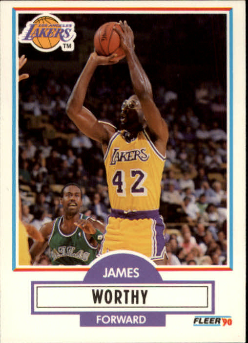 1990-91 Fleer #97 James Worthy