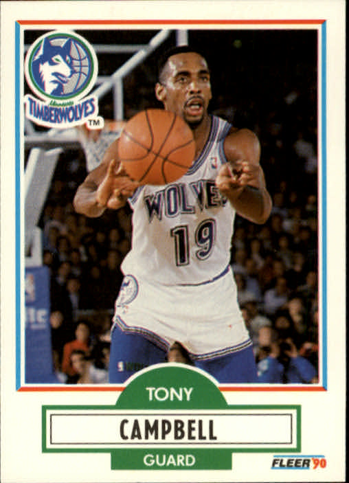 1990-91 Fleer #112 Tony Campbell