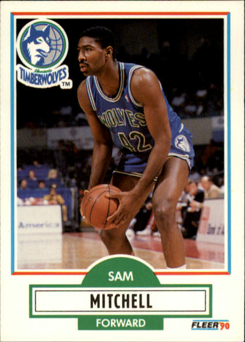 1990-91 Fleer #114 Sam Mitchell UER RC/(Mercer University, not Mercer College)