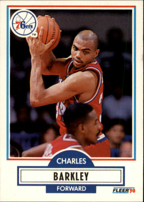 1990-91 Fleer #139 Charles Barkley UER/(FG Percentage .545.)