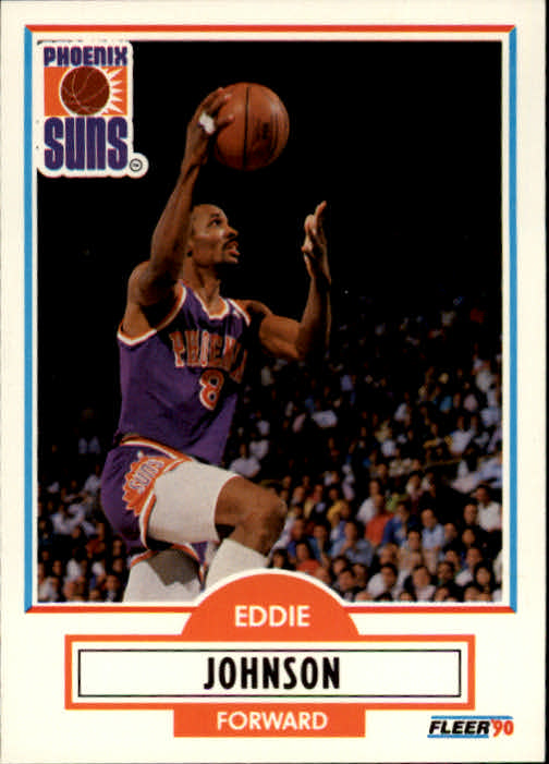 1990-91 Fleer #148 Eddie Johnson