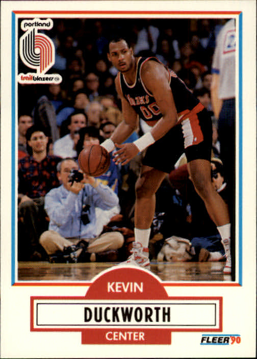 1990-91 Fleer #155 Kevin Duckworth