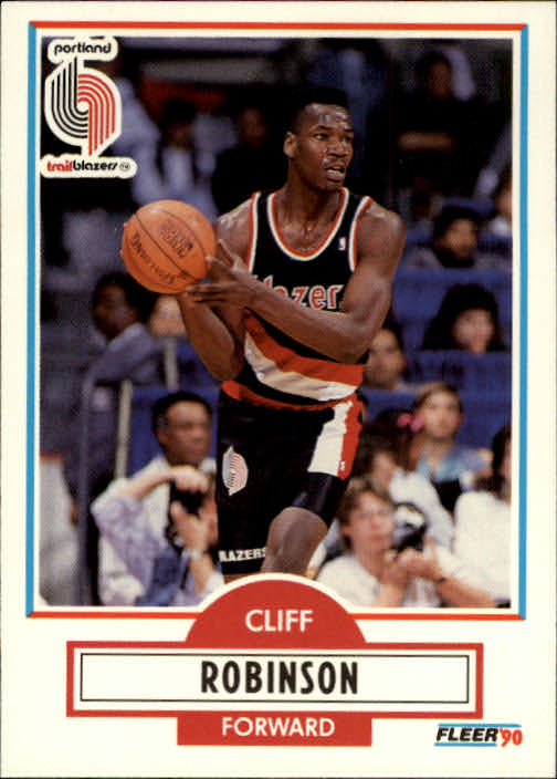 1990-91 Fleer #159 Clifford Robinson RC