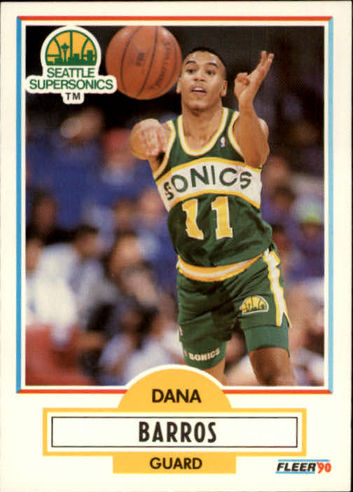 1990-91 Fleer #175 Dana Barros RC