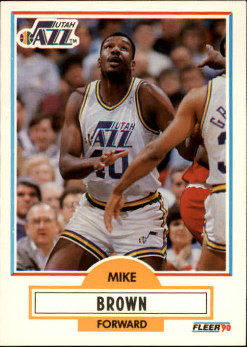 1990-91 Fleer #183 Mike Brown