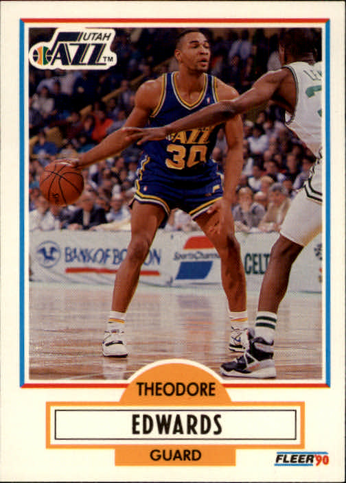 1990-91 Fleer #185 Blue Edwards RC