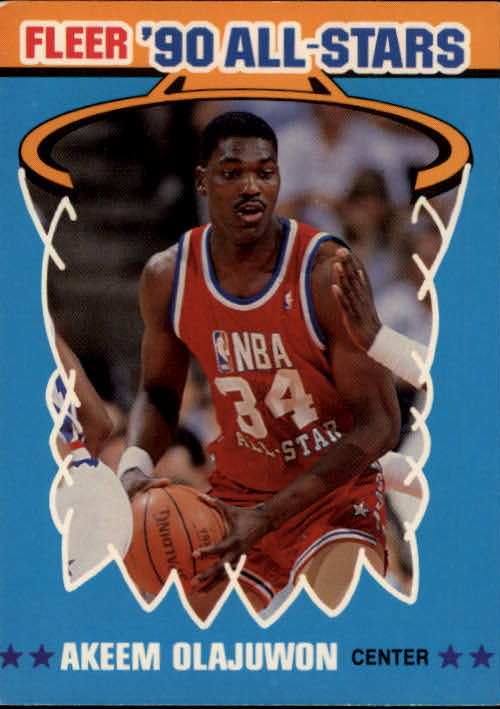 1990-91 Fleer All-Stars #3 Hakeem Olajuwon