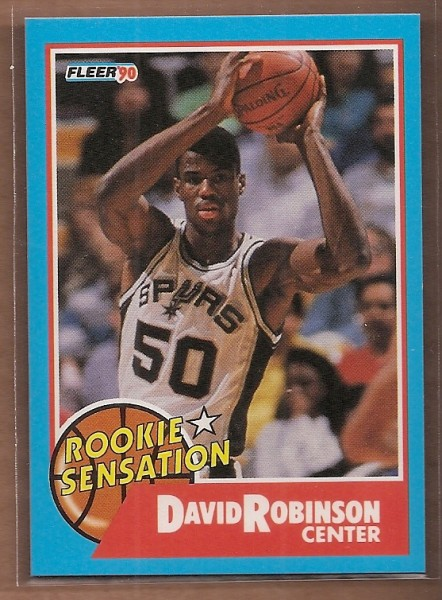 1990-91 Fleer Rookie Sensations #1 David Robinson