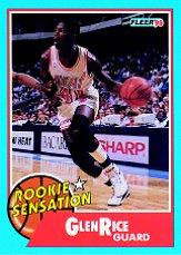 1990-91 Fleer Rookie Sensations #3 Glen Rice