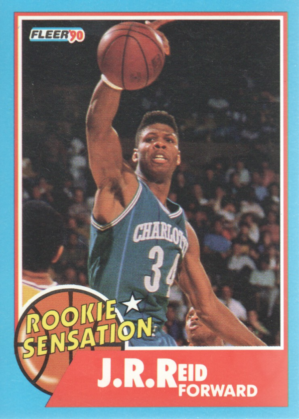 1990-91 Fleer Rookie Sensations #4 J.R. Reid