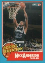 1990-91 Fleer Rookie Sensations #7 Nick Anderson