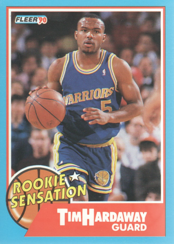1990-91 Fleer Rookie Sensations #8 Tim Hardaway
