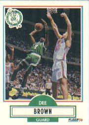 1990-91 Fleer Update #U6 Dee Brown RC