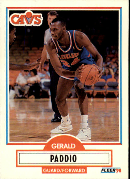1990-91 Fleer Update #U18 Gerald Paddio RC