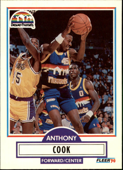 1990-91 Fleer Update #U24 Anthony Cook RC