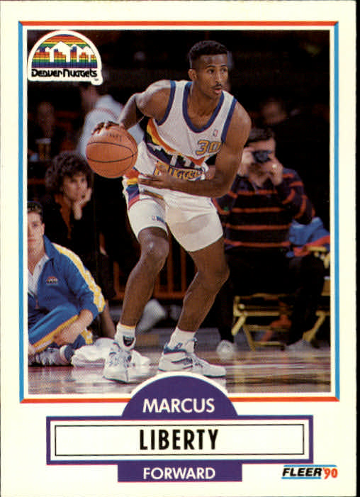 1990-91 Fleer Update #U26 Marcus Liberty RC