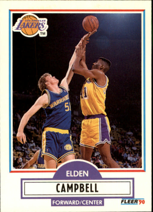 1990-91 Fleer Update #U43 Elden Campbell RC