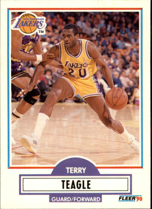 1990-91 Fleer Update #U46 Terry Teagle