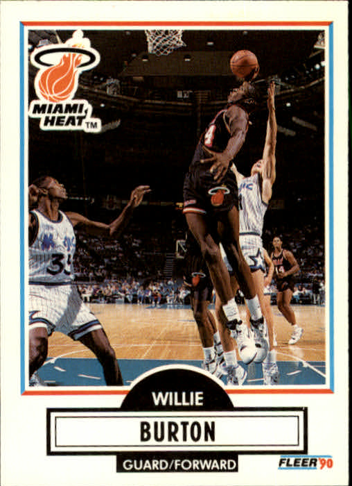1990-91 Fleer Update #U47 Willie Burton RC
