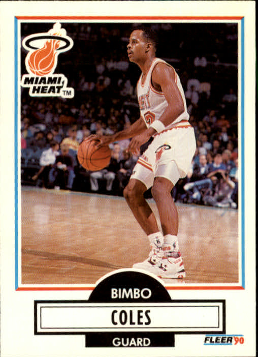 1990-91 Fleer Update #U48 Bimbo Coles RC