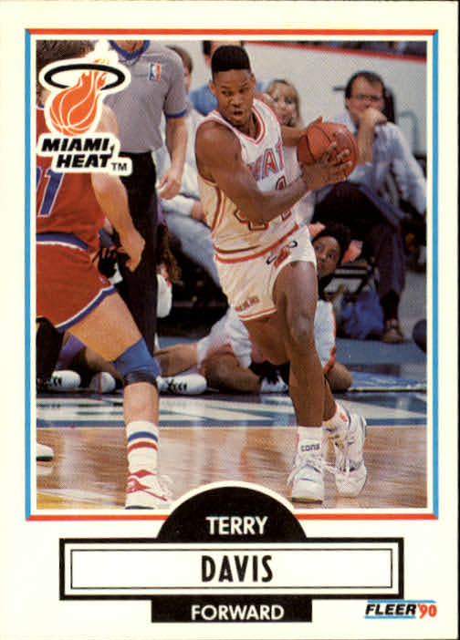 1990-91 Fleer Update #U49 Terry Davis RC
