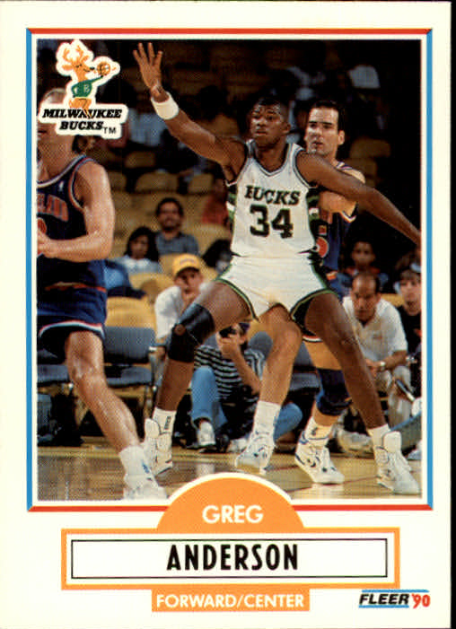 1990-91 Fleer Update #U51 Greg Anderson
